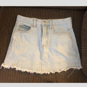 Brandy Melville Light Wash Jean Skirt